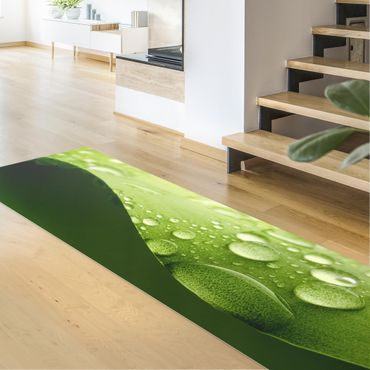 Vinyl-Teppich - Drops of Nature - Panorama Quer