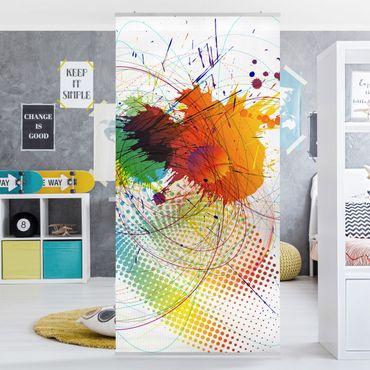 Raumteiler Kinderzimmer - Rainbow Background 250x120cm