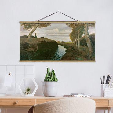 Stoffbild mit Posterleisten - Otto Modersohn - Moorlandschaft - Querformat 1:2