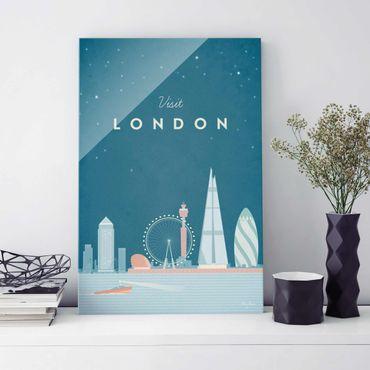 Glasbild - Reiseposter - London - Hochformat 3:2