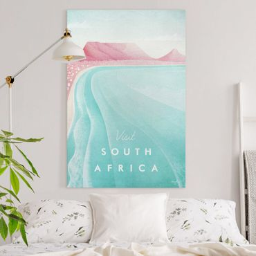 Leinwandbild - Reiseposter - Südafrika - Hochformat 3:2