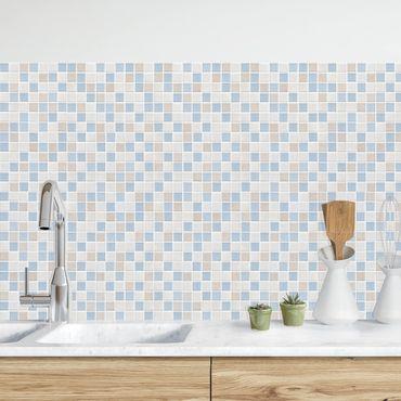 Küchenrückwand - Mosaikfliesen Meersand