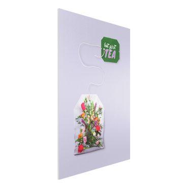 Forex Fine Art Print - Jonas Loose - Blumentee - Hochformat 3:2