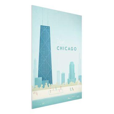 Forex Fine Art Print - Reiseposter - Chicago - Hochformat 4:3