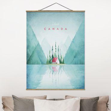 Stoffbild mit Posterleisten - Reiseposter - Canada - Hochformat 4:3