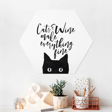 Hexagon Bild Forex - Cats and Wine make everything fine