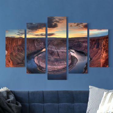 Leinwandbild 5-teilig - Colorado River Glen Canyon