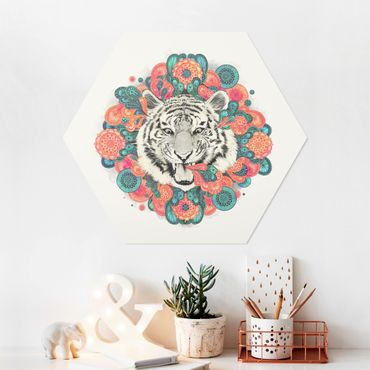 Hexagon Bild Forex - Illustration Tiger Zeichnung Mandala Paisley
