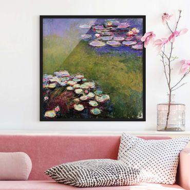 3Panell Print Claude Monet Lotus Impressionistische Landschaftsmalerei auf Leinwand Gem/älde Modulares Bild Kunstplakat f/ür Wohnzimmer Kein Rahmen 30x40cmx3