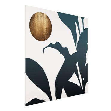 Forex Fine Art Print - Goldener Mond im Dschungel - Quadrat 1:1