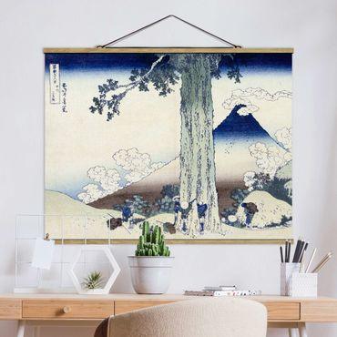 Stoffbild mit Posterleisten - Katsushika Hokusai - Mishima Pass in der Provinz Kai - Querformat 3:4