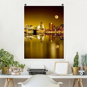 Poster - Goldenes New York - Hochformat 3:4