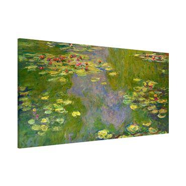 Magnettafel - Claude Monet - Grüne Seerosen - Memoboard Panorama Querformat 1:2