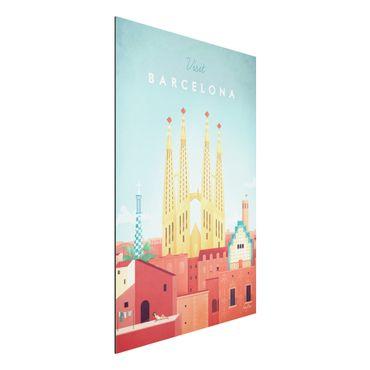Aluminium Print - Reiseposter - Barcelona - Hochformat 3:2