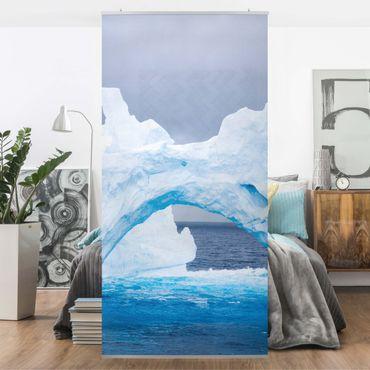 Raumteiler - Antarktischer Eisberg 250x120cm