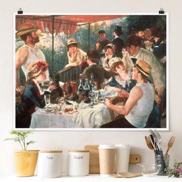 Poster - Auguste Renoir - Das Frühstück der Ruderer - Querformat 3:4