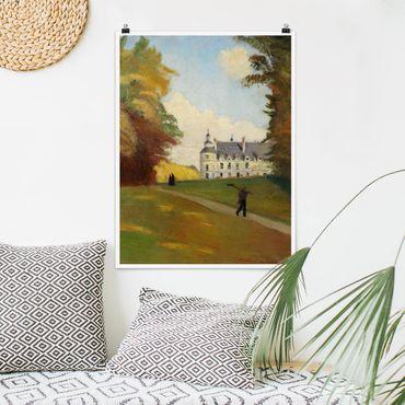 Poster - Emile Bernard - Beim Schloss Tanlay - Hochformat 3:4