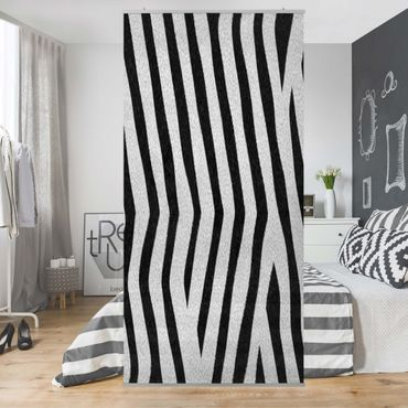 Raumteiler - Zebra 250x120cm