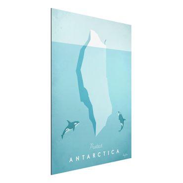 Aluminium Print - Reiseposter - Antarktis - Hochformat 4:3