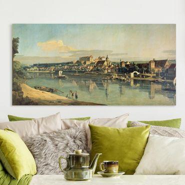 Leinwandbild - Bernardo Bellotto - Blick auf Pirna - Querformat 1:2
