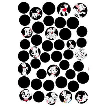 Disney Wandtattoo Kinderzimmer - 101 Dalmatiner Dots - Komar Deco Sticker