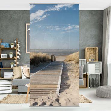 Raumteiler - Ostsee Strand 250x120cm