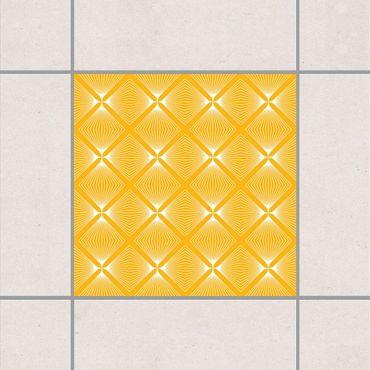 Fliesenaufkleber - Zartes Vintage Caro Melon Yellow Gelb