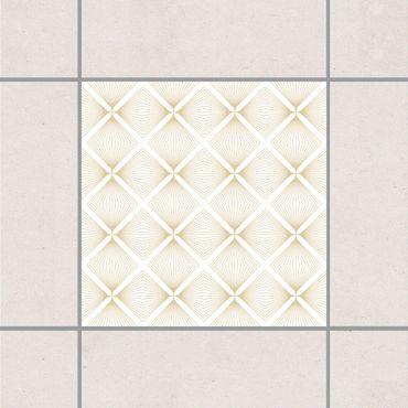 Fliesenaufkleber - Zartes Vintage Caro White Light Brown