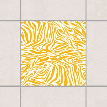 Fliesenaufkleber - Zebra Design Melon Yellow Gelb