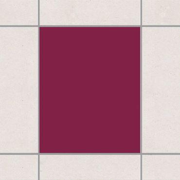 Fliesenaufkleber - Colour Wine Red Rot
