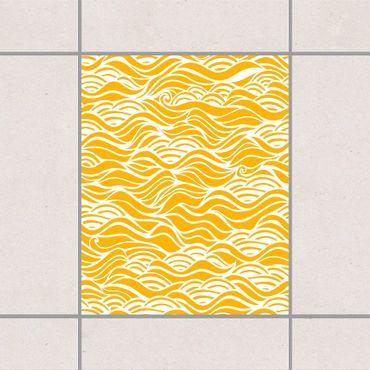 Fliesenaufkleber - Sie träumten von zarten Wellen am Meer Mellon Yellow