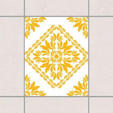 Fliesenaufkleber - Vera Rosa White Lemon Yellow Gelb