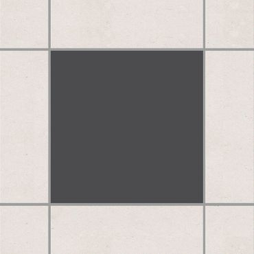 Fliesenaufkleber - Colour Dark Grey Grau
