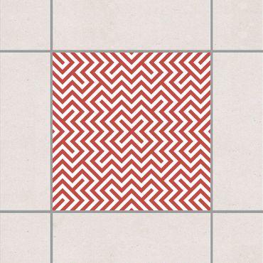 Fliesenaufkleber - Geometrisches Design Rot