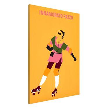Magnettafel - Filmposter Innamorato Pazzo - Memoboard Hochformat 3:2