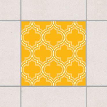 Fliesenaufkleber - Retro Marokko Melon Yellow Gelb