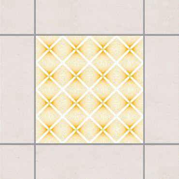 Fliesenaufkleber - Zartes Vintage Caro White Melon Yellow