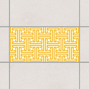 Fliesenaufkleber - Dekoratives Labyrinth Melon Yellow Gelb