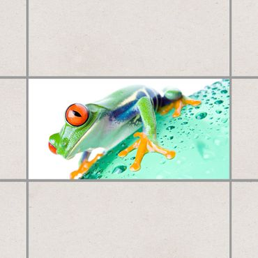 Fliesenaufkleber - Frog