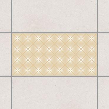 Fliesenaufkleber - Zartes Vintage Caro Light Brown Braun