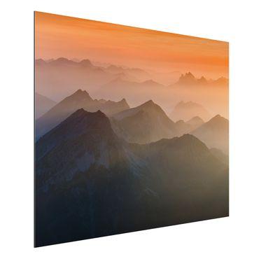 Alu-Dibond Bild - Blick von der Zugspitze