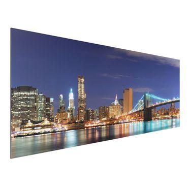 Alu-Dibond Bild - Manhattan in New York City