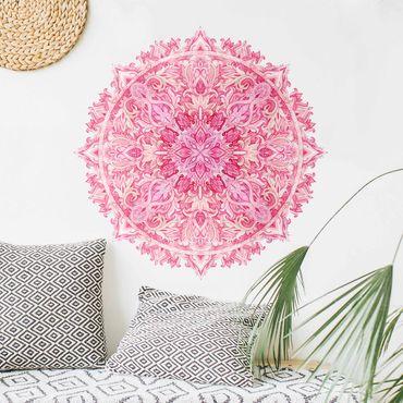 Wandtattoo - Mandala handgemalt aquarell pink