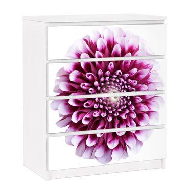 Möbelfolie für IKEA Malm Kommode - selbstklebende Folie Aster