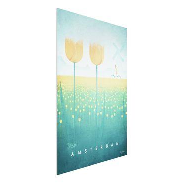 Forex Fine Art Print - Reiseposter - Amsterdam - Hochformat 3:2