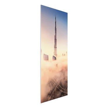 Forex Fine Art Print - Himmlische Skyline von Dubai - Panel