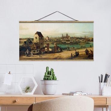 Stoffbild mit Posterleisten - Bernardo Bellotto - München - Querformat 2:1