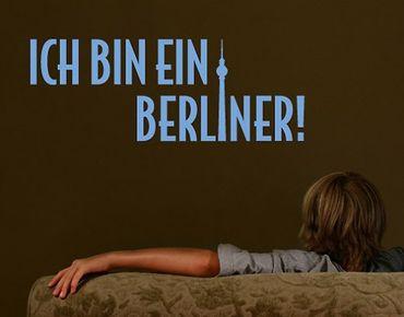 Wandtattoo Zitate - Wandzitate - No.SF254 - Ich bin ein Berliner Wandtattoo
