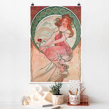 Poster - Alfons Mucha - Vier Künste - Die Malerei - Hochformat 3:2