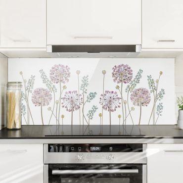 Spritzschutz Glas - Allium Illustration - Panorama - 5:2